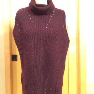NWT- Sleeveless, Turtleneck Sweater Tunic